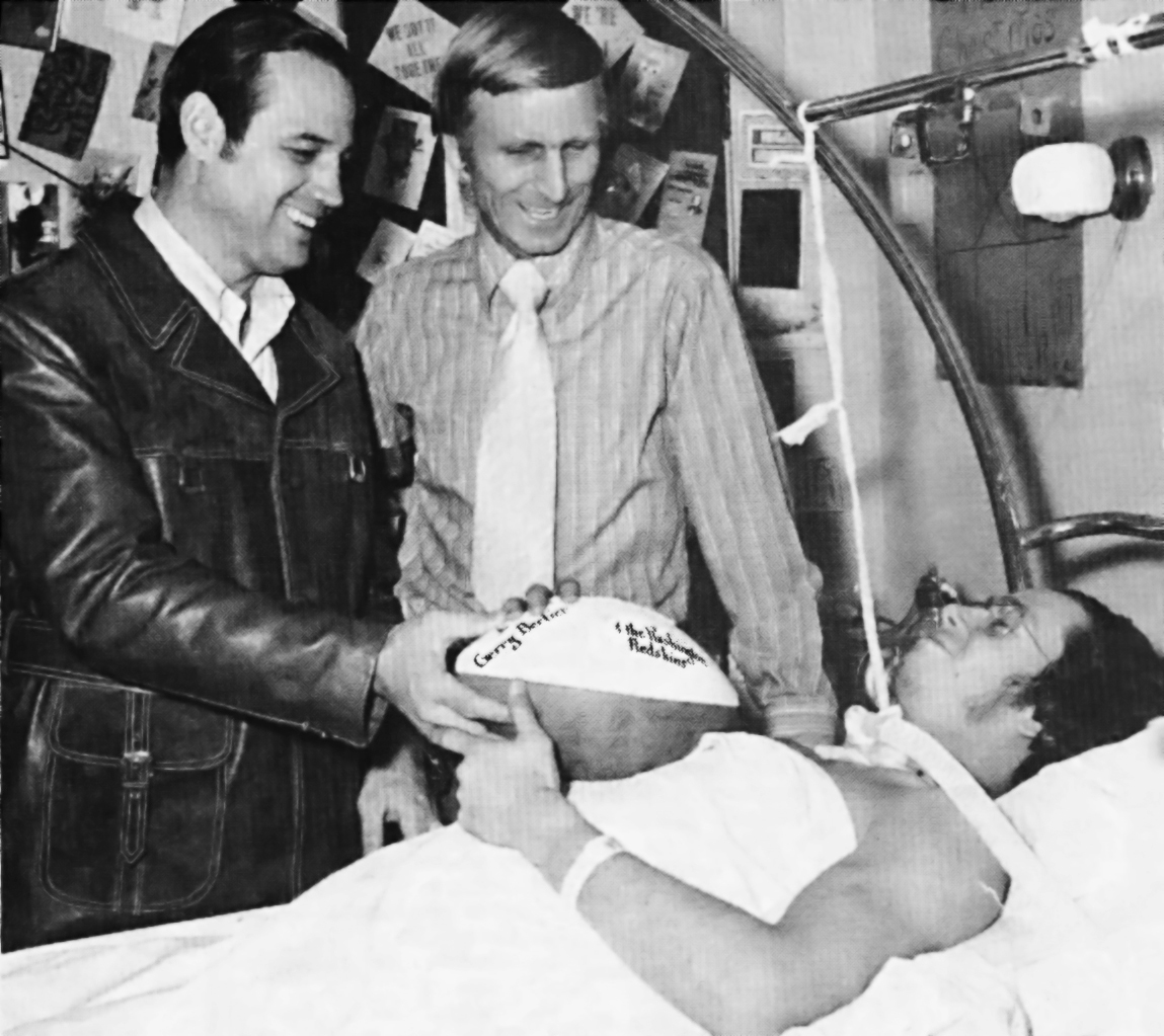 Gerry Bertier in Hospital Bed